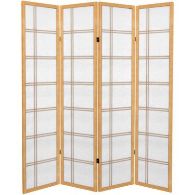 Oriental Furniture 6' Double Cross 4 Panel Room Divider