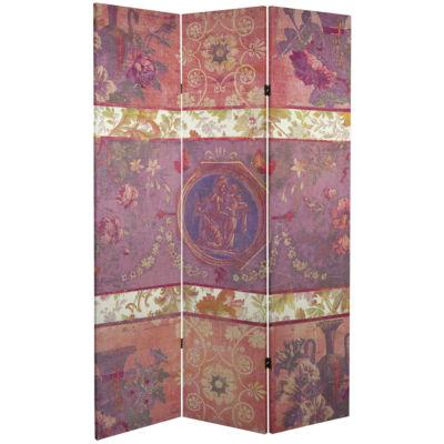 Oriental Furniture 6' Vintage Emblem Room Divider
