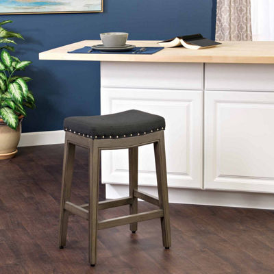 Navy Bar Height Stool