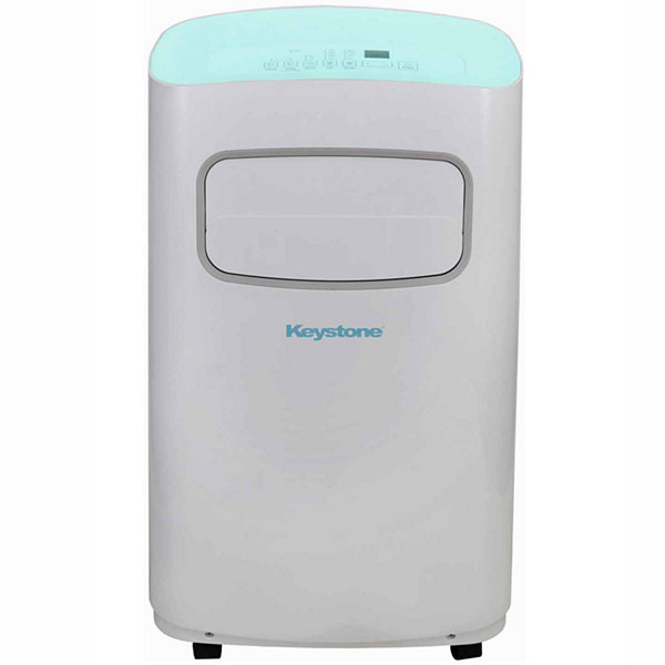 Keystone 12000 BTU 115V Portable Air Conditioner with Remote Control in White/Blue