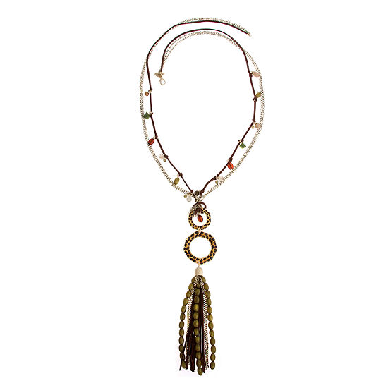 El By Erica Lyons Womens Round Beaded Necklace