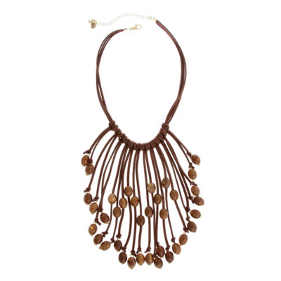 EL by Erica Lyons Womens Oval Statement Necklace