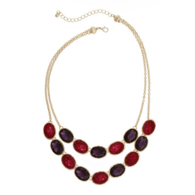 Mixit Spetember Mixit Color Newness Womens Beaded Necklace