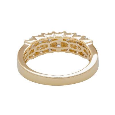 TW Genuine Diamond 10K Gold Wedding Band