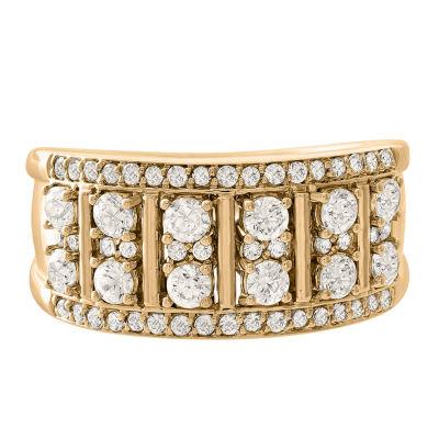 Womens 1 CT. T.W. Genuines Diamond 10K Gold Wedding Band