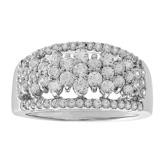 Womens 1 CT. T.W. Genuine Diamond 10K Gold Wedding Band