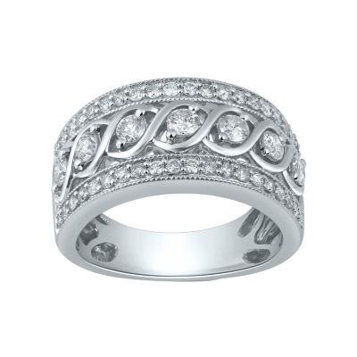 Womens 1 CT. T.W. Genuine Diamond 10K Gold Band