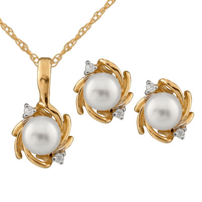 Girls 2 pc Diamond Accent White Diamond 14K Gold Jewelry Set