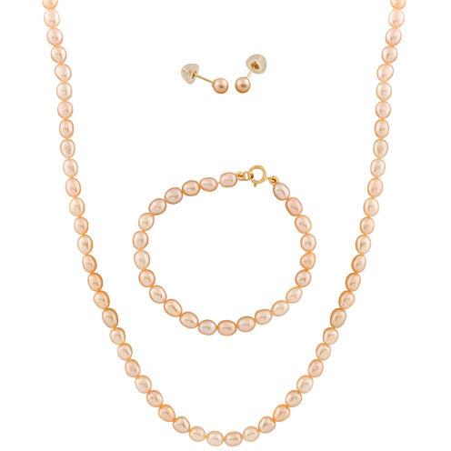 Girls 3-pc. 14K Gold Jewelry Set