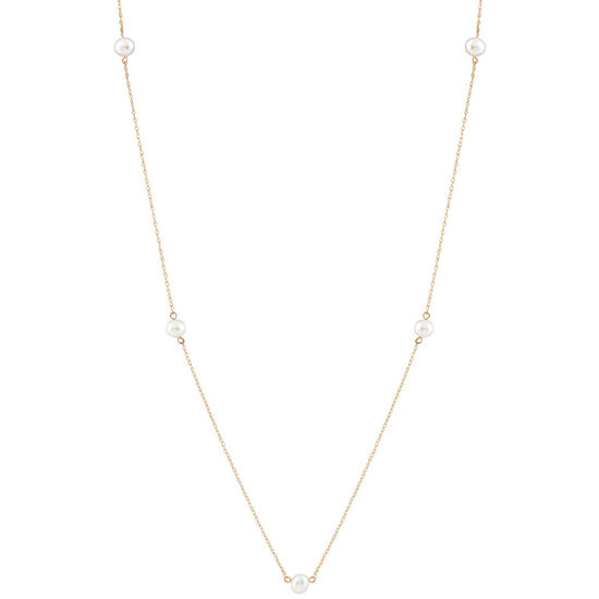 Girls 15 Inch 14K Gold Link Necklace
