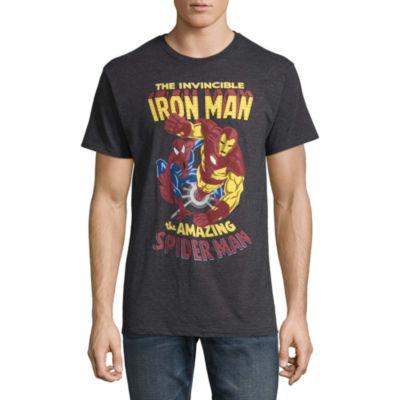 Short Sleeve Iron Man Tv + Movies Graphic T-Shirt