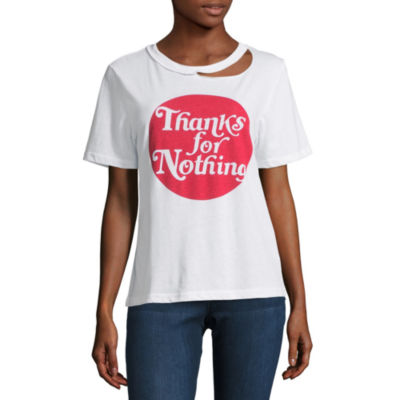 """""""Thanks for Nothing"""" Graphic T-Shirt- Juniors"""