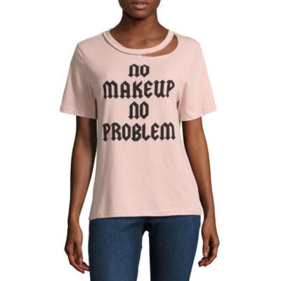 """No Makeup No Problem"" Graphic T-Shirt- Juniors"