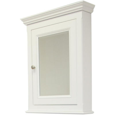 American Imaginations 22.5-in. W x 30-in. H Traditional Birch Wood-Veneer Medicine Cabinet In White