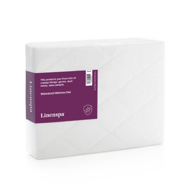 LINENSPA Waterproof Quilted Mattress Pad