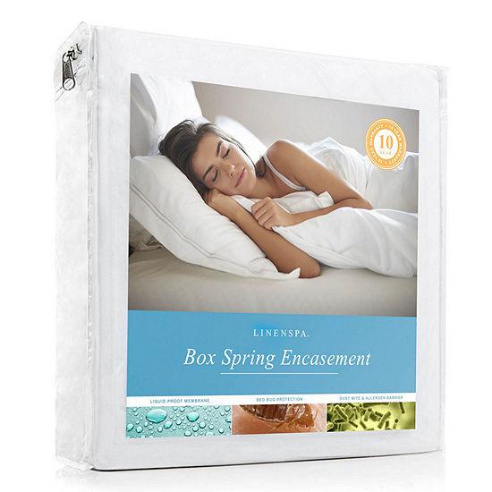 LINENSPA Waterproof Bed Bug Proof Box Spring Encasement Protector