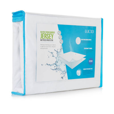 LUCID Premium Rayon from Bamboo Jersey Mattress Protector