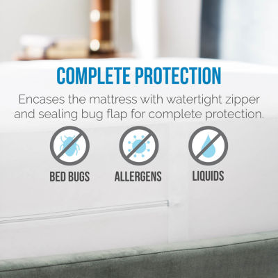 Lucid Zippered Encasement Pillow Protector Set of2