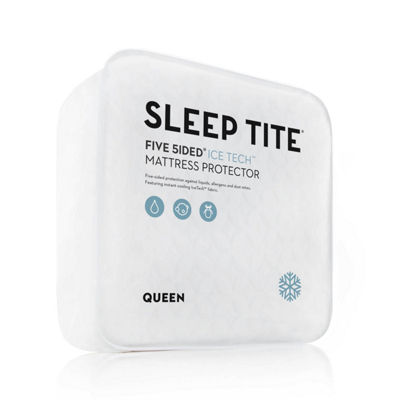 MALOUF Sleep TITE Five Sided IceTech Waterproof Mattress Protector