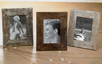 Distressed Wood Tabletop Frame