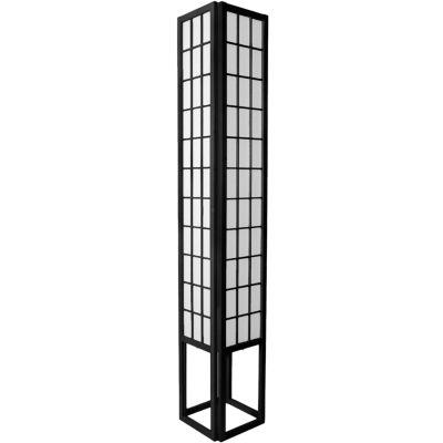 "Oriental Furniture 72"" Window Pane Shoji Floor Lamp"""