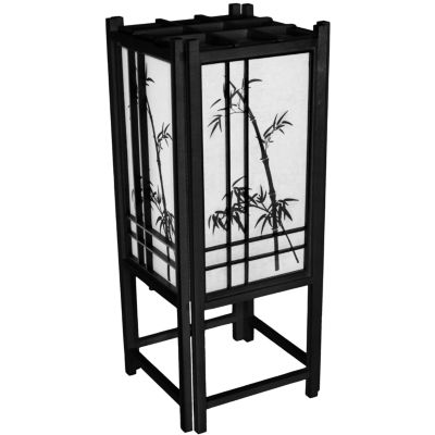 "Oriental Furniture 18"" Bamboo Tree Table Lamp"""
