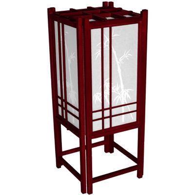 "Oriental Furniture 18"" Bamboo Tree Table Lamp"""
