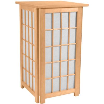 "Oriental Furniture 27"" Tall Hokkaido End Table Shoji Table Lamp"""