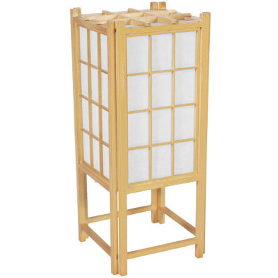 "Oriental Furniture 18"" Window Pane Shoji Table Lamp"""