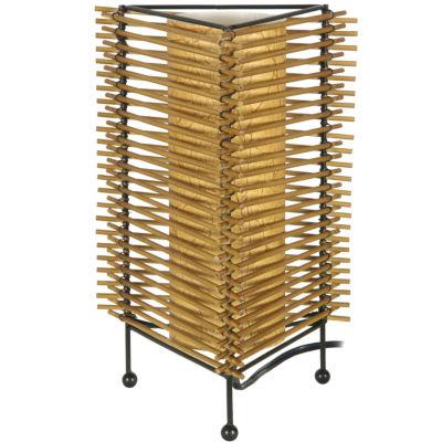 "Oriental Furniture 12"" Japanese Gendaiteki Table Lamp"""