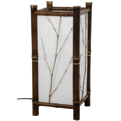 Oriental Furniture Hayashi Japanese Table Lamp