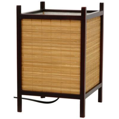 Oriental Furniture Kobayashi Japanese Bamboo Matchstick Table Lamp