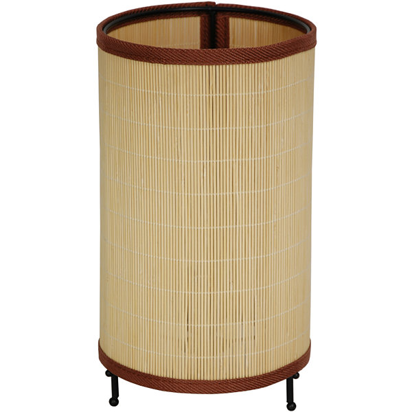 "Oriental Furniture 11"" Shika Japanese Round RattanLantern Table Lamp"""