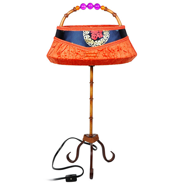 "Oriental Furniture 21"" Shanghai Clutch Table Lamp"""