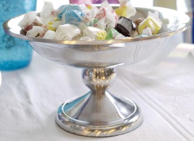 "St. Croix Trading 8"" Polished Aluminum Pedestal Bowl"