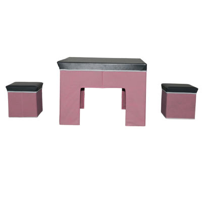 3-Piece Kid's Collapsible Table And Chair Play Set