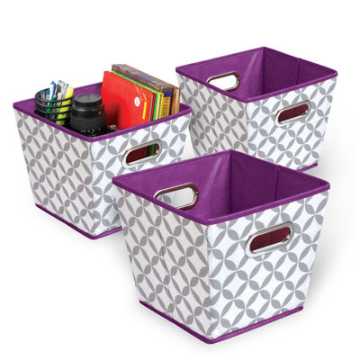 Bintopia™  3-Pack Tapered Grommet Storage Bins