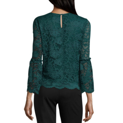 Worthington Bell Sleeve Lace Top