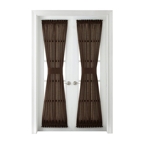 plaza thermal interlined rod pocket door panel jcpenney. Black Bedroom Furniture Sets. Home Design Ideas