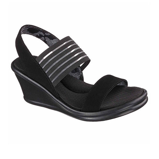Skechers Womens Rumblers - Sci Fi Wedge Sandals