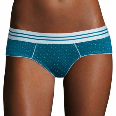 Flirtitude 5 Pack Cotton Boykini Hipster Panty