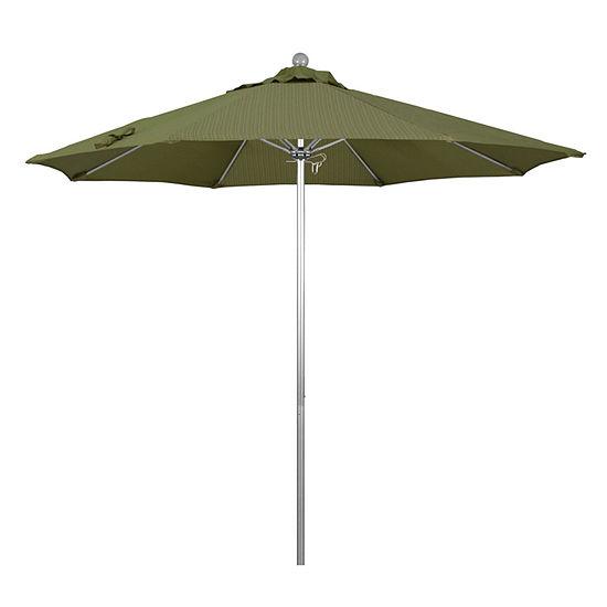 California Umbrella 9' Venture Series Olefin Patio Umbrella With Silver Anodized Aluminum Pole Fiberglass Ribs Push Lift