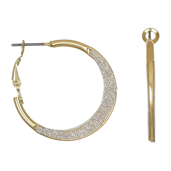 Mixit 40mm Round Hoop Earrings