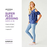 Arizona Super Flex Little & Big Girls Skinny Jeggings