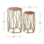 Faccha 2-Piece Metal Table Set