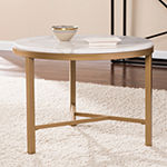 Framphis Faux Marble Accent Table