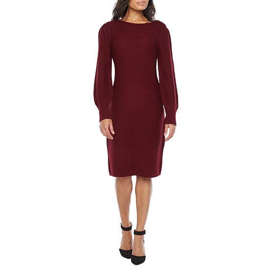 Liz Claiborne Long Sleeve A-Line Dress
