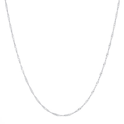 "Silver Reflections™ Silver-Plated Brass 20"" Singapore Chain"