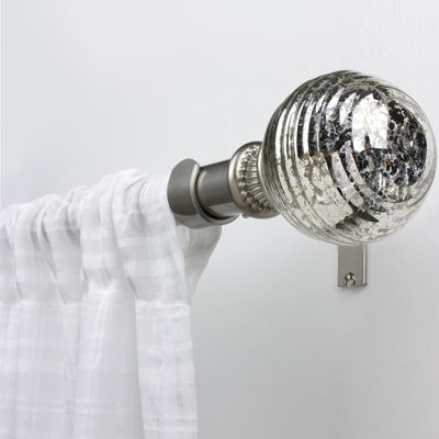 "Bali® Mercury Glass Adjustable Curtain 1"" Diameter Rod"
