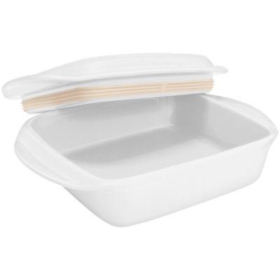 "Chantal® Make & Take® 8"" Ceramic Square Baker with Lid"